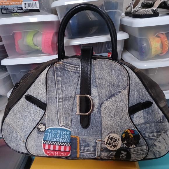 Dior Handbags - CHRISTIAN DIOR DOUBLE SADDLE BOWLER BAG
